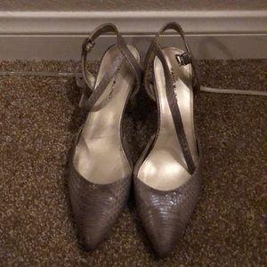 Snake skin looking heels